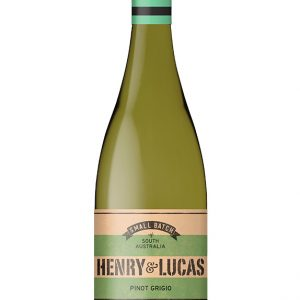 White wine bottle with green striped label